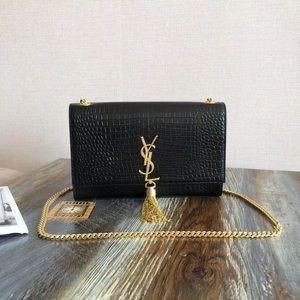 YSL Kate Chain CrossBody Medium Black Gold